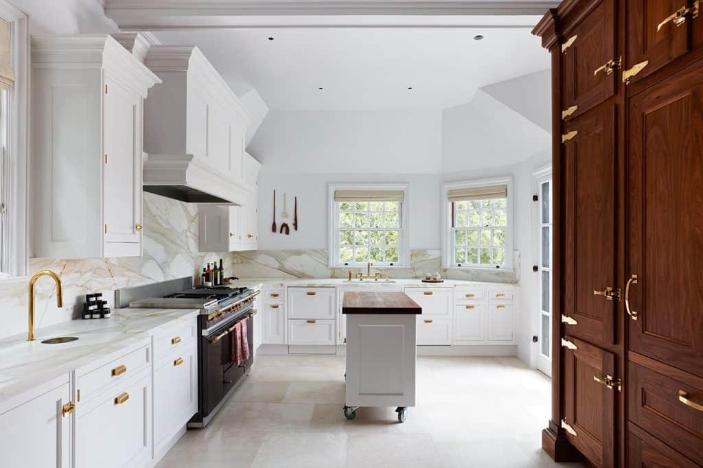 marble kitchen remodel in Pinecrest