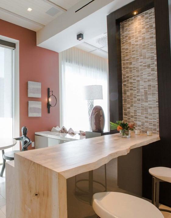 Miami condo remodel breakfast nook