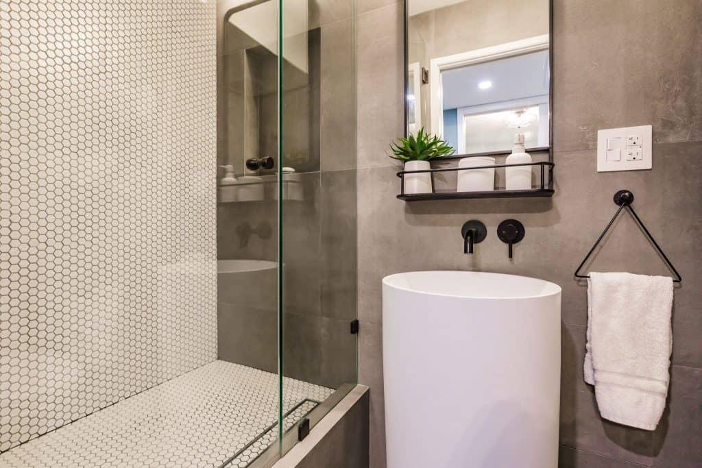 Condo Remodeling in South Miami with Powder Bathroom